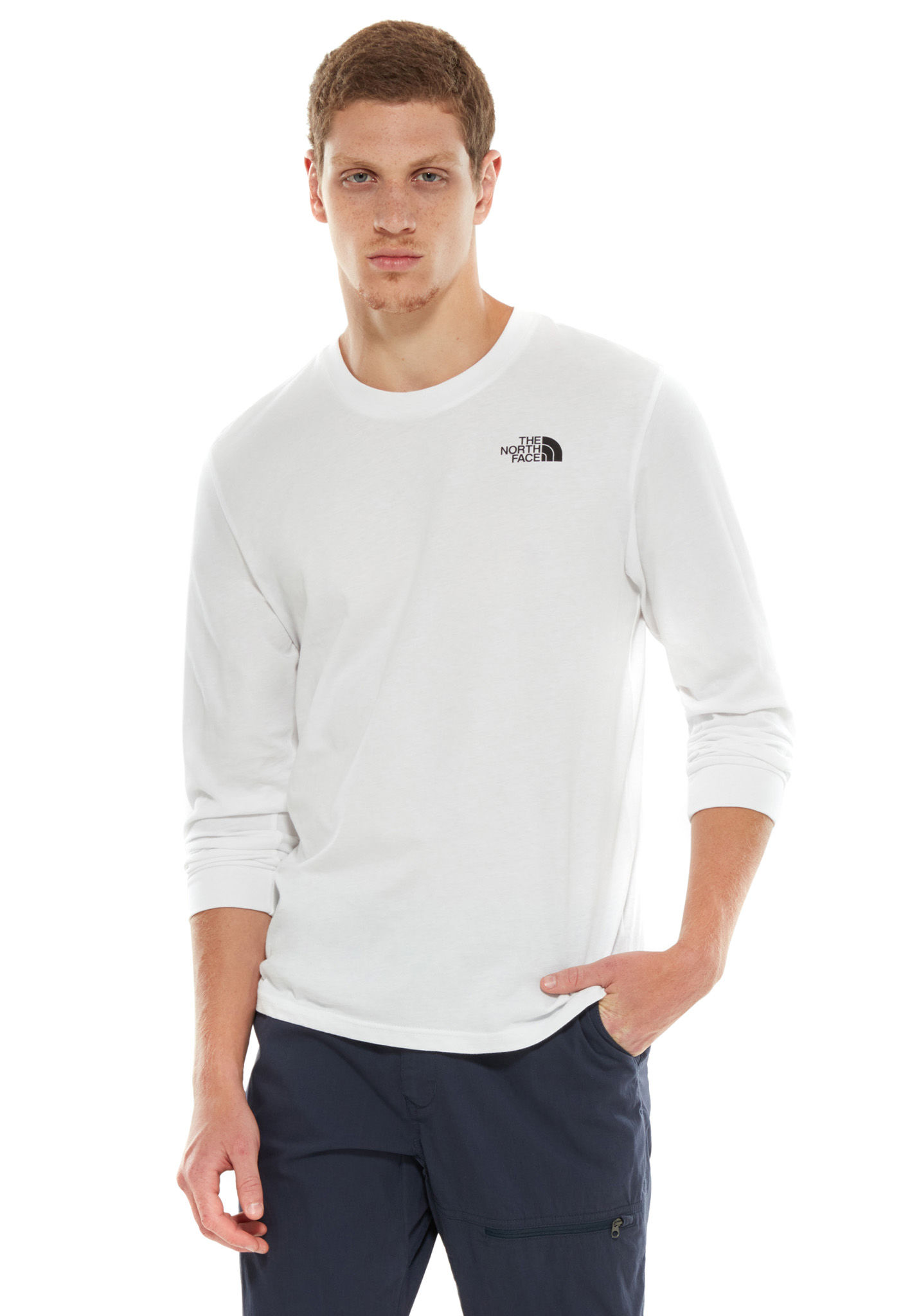 0d2d48c6 THE NORTH FACE Simple Dome - Long-sleeved Shirt for Men - White - Planet  Sports