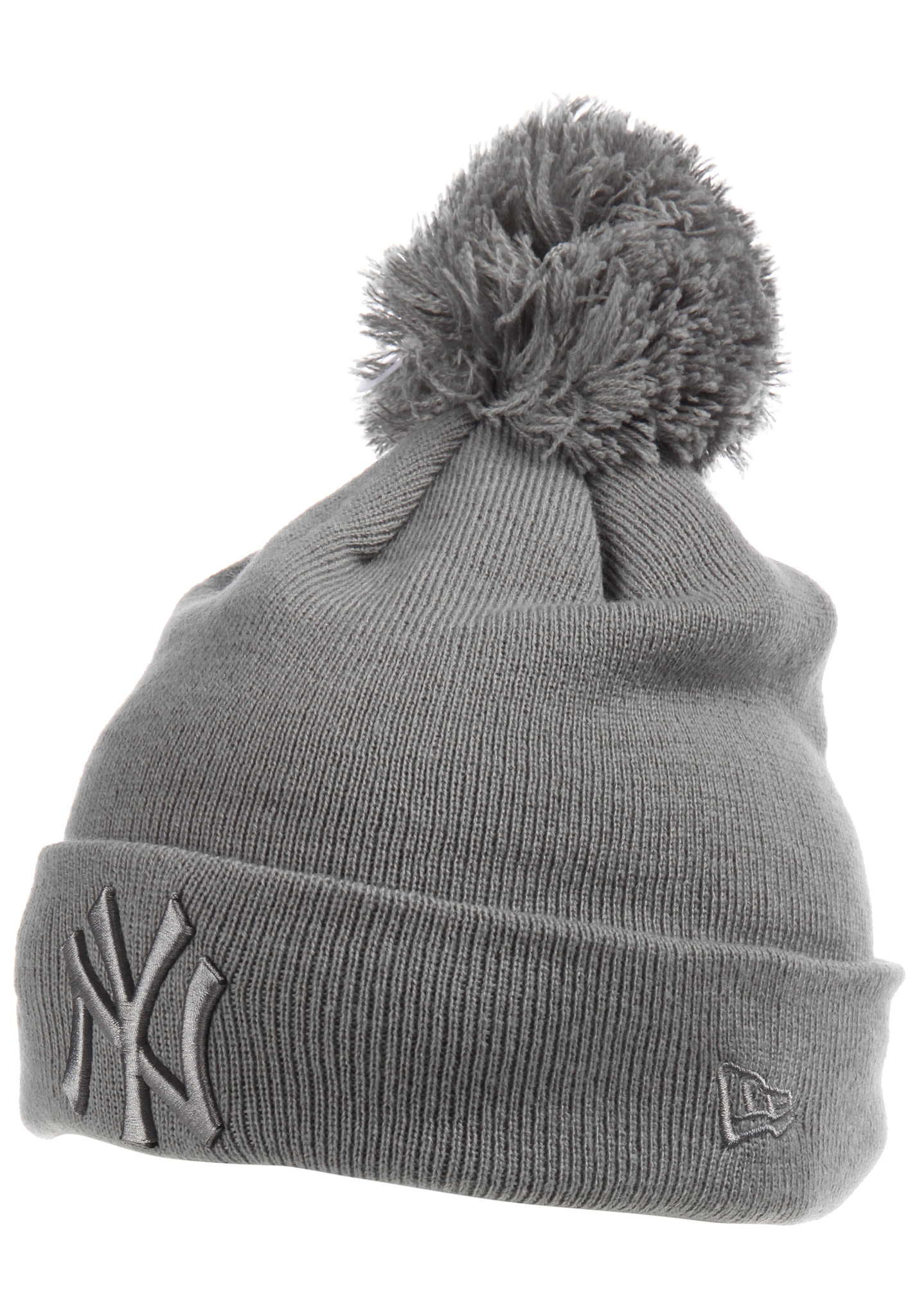 NEW Era Bobble Cuff New York Yankees - Beanie for Women - Grey - Planet  Sports 4a25ce01883