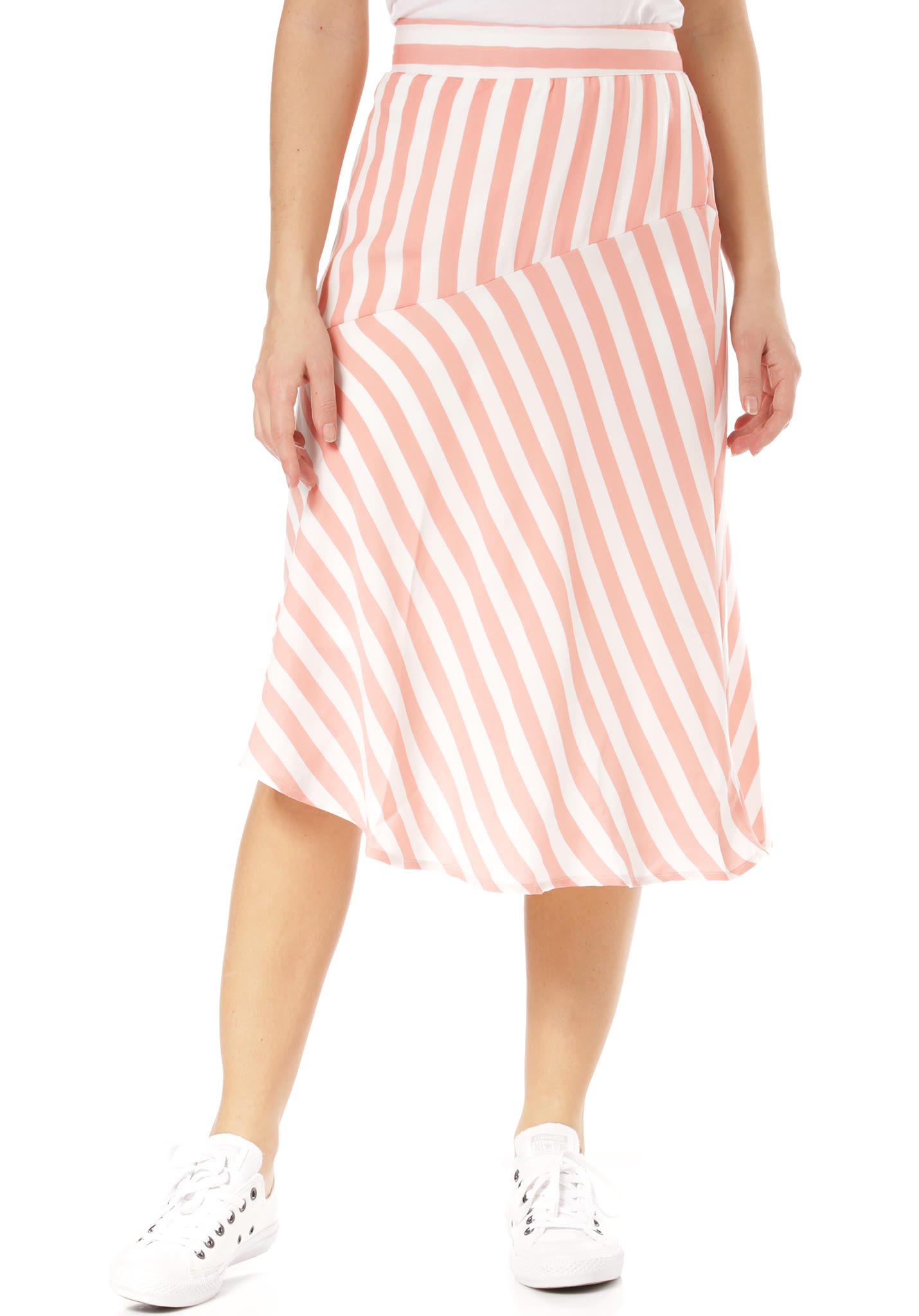 554206daed Vila Vistribello Midi - Skirt for Women - Pink - Planet Sports