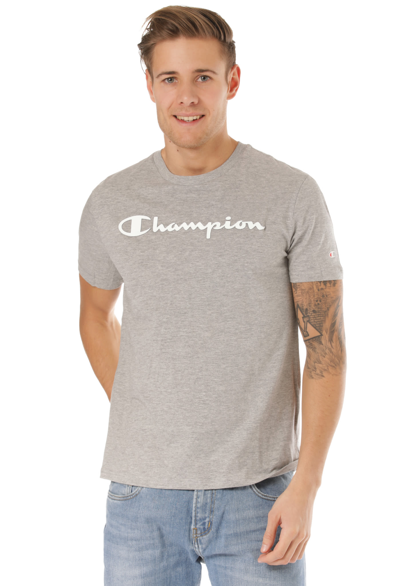 206ee57020cd Champion Crewneck - T-Shirt for Men - Grey - Planet Sports