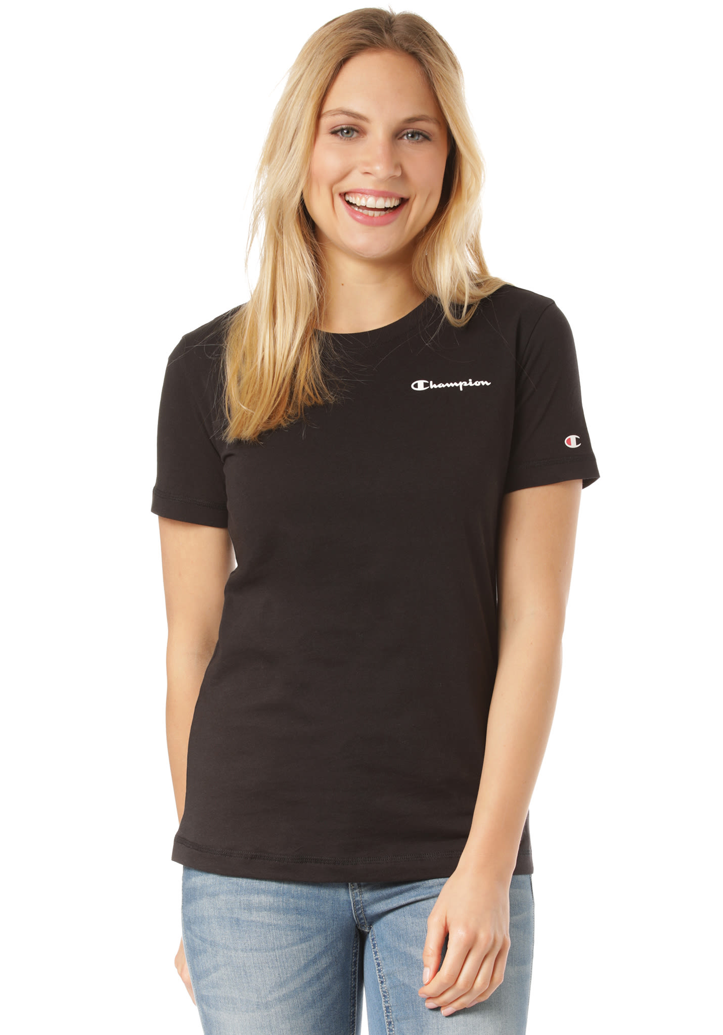 d99323156f81 Champion Crewneck - T-Shirt for Women - Black - Planet Sports