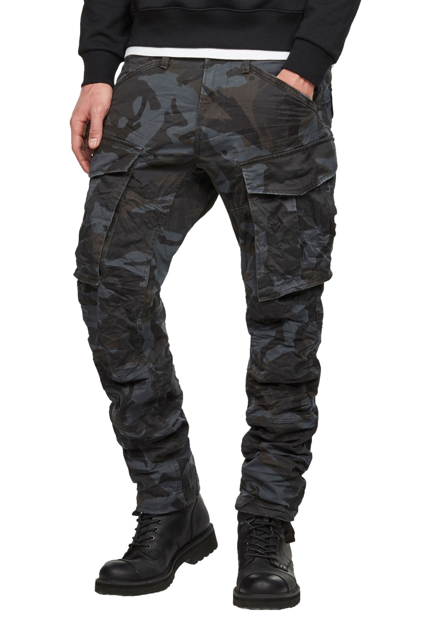 02a449b10dce G-STAR Rovic 3D Straight Tapered - Cargo Pants for Men - Grey - Planet  Sports