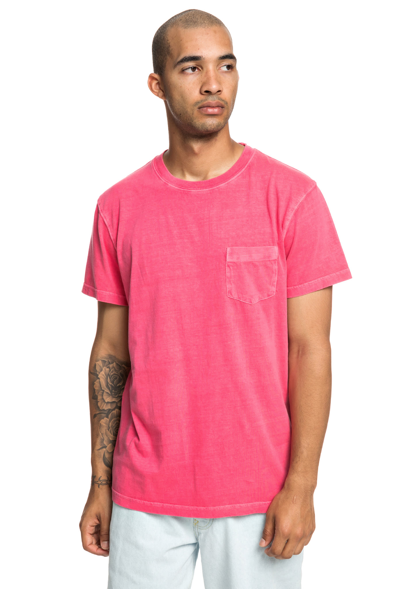 2e66c370 DC Dyed Pocket Crew - T-Shirt for Men - Pink - Planet Sports
