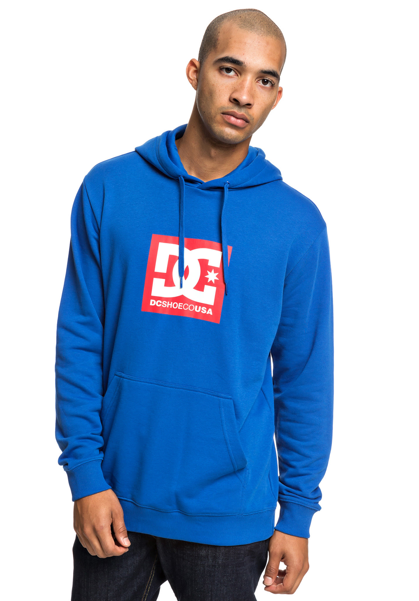 444489dc DC Square Star - Hooded Sweatshirt for Men - Blue - Planet Sports