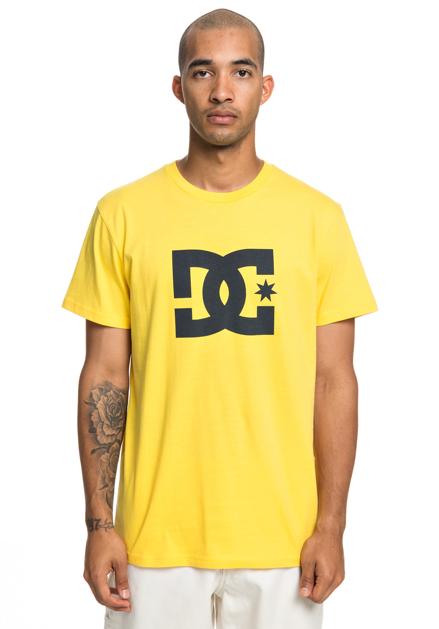 4a38a0f59aa DC Star 2 - T-Shirt for Men - Yellow - Planet Sports