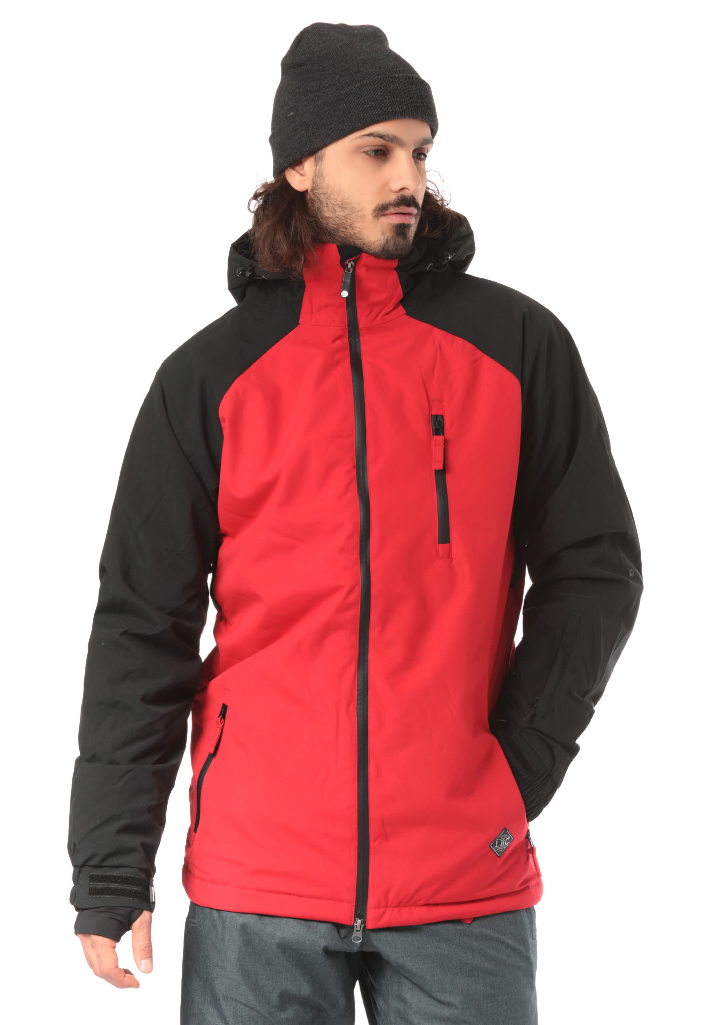 Light Slice - Snowboard Jacket for Men - Red - Planet Sports e48c119e06