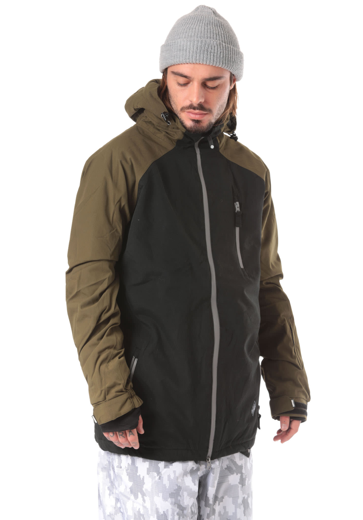 Light Slice - Snowboard Jacket for Men - Black - Planet Sports 78ddbdef12