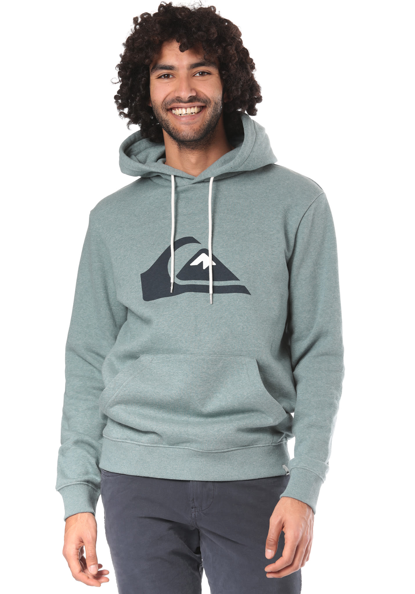 710e3c5f3cc6 Quiksilver Big Logo Hood - Hooded Sweatshirt for Men - Blue - Planet Sports
