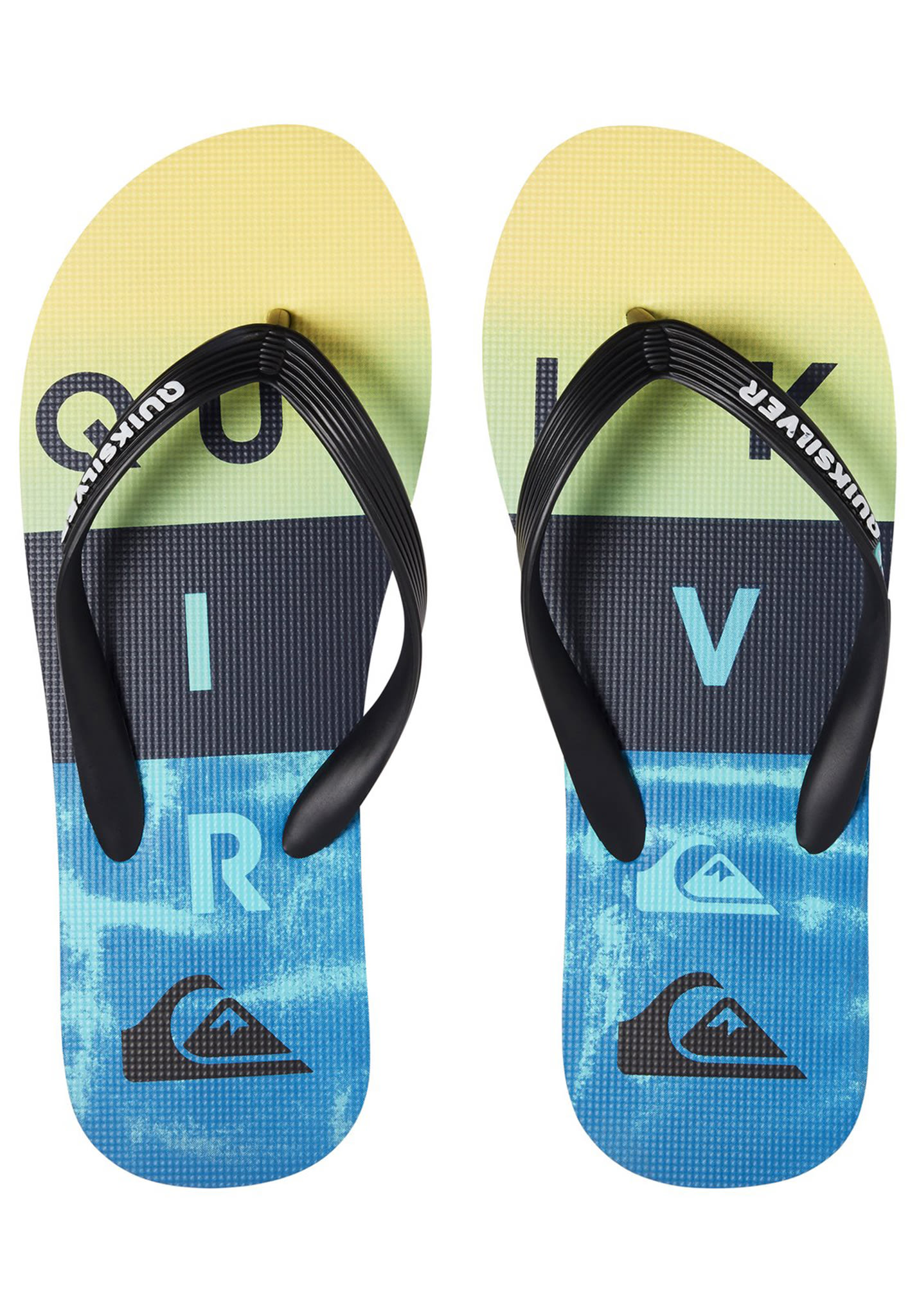 Quiksilver Molokai Wordblock Volley - Sandals for Men - Black - Planet  Sports 238f4bd6702