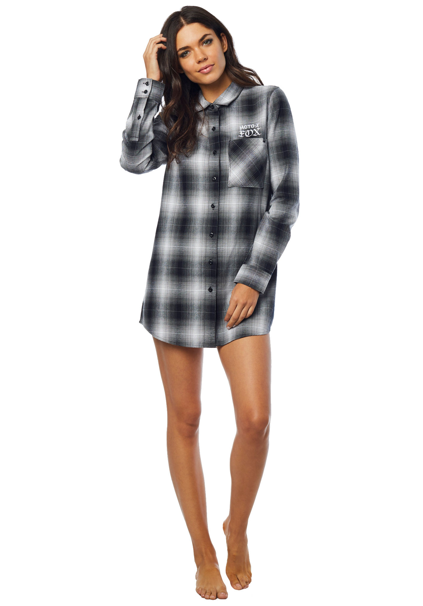 a48dc5be1 FOX Moto X Long Flannel - Camisa para Mujeres - Negro - Planet Sports