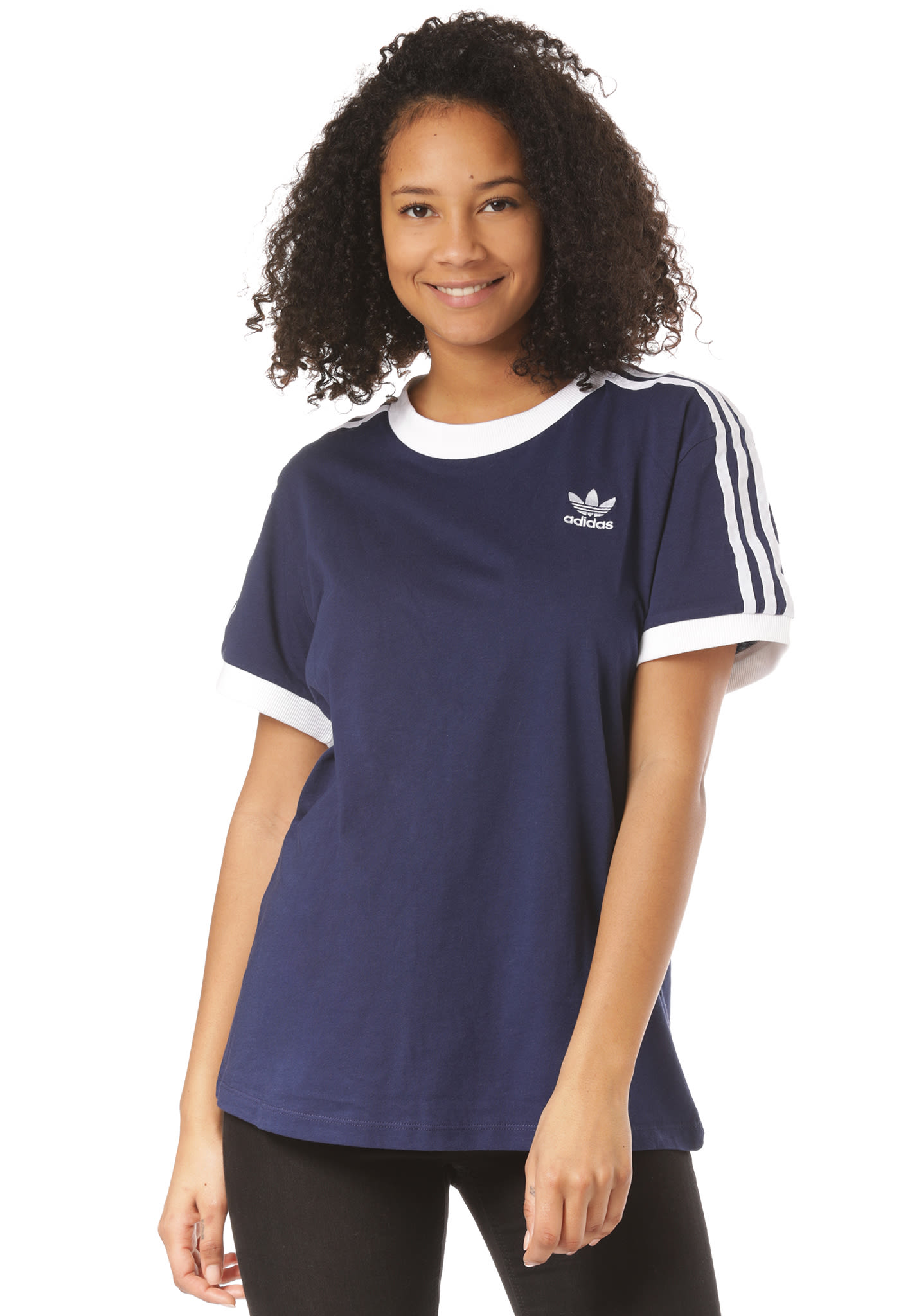 adidas Originals 3 Stripes - T-Shirt für Damen - Blau