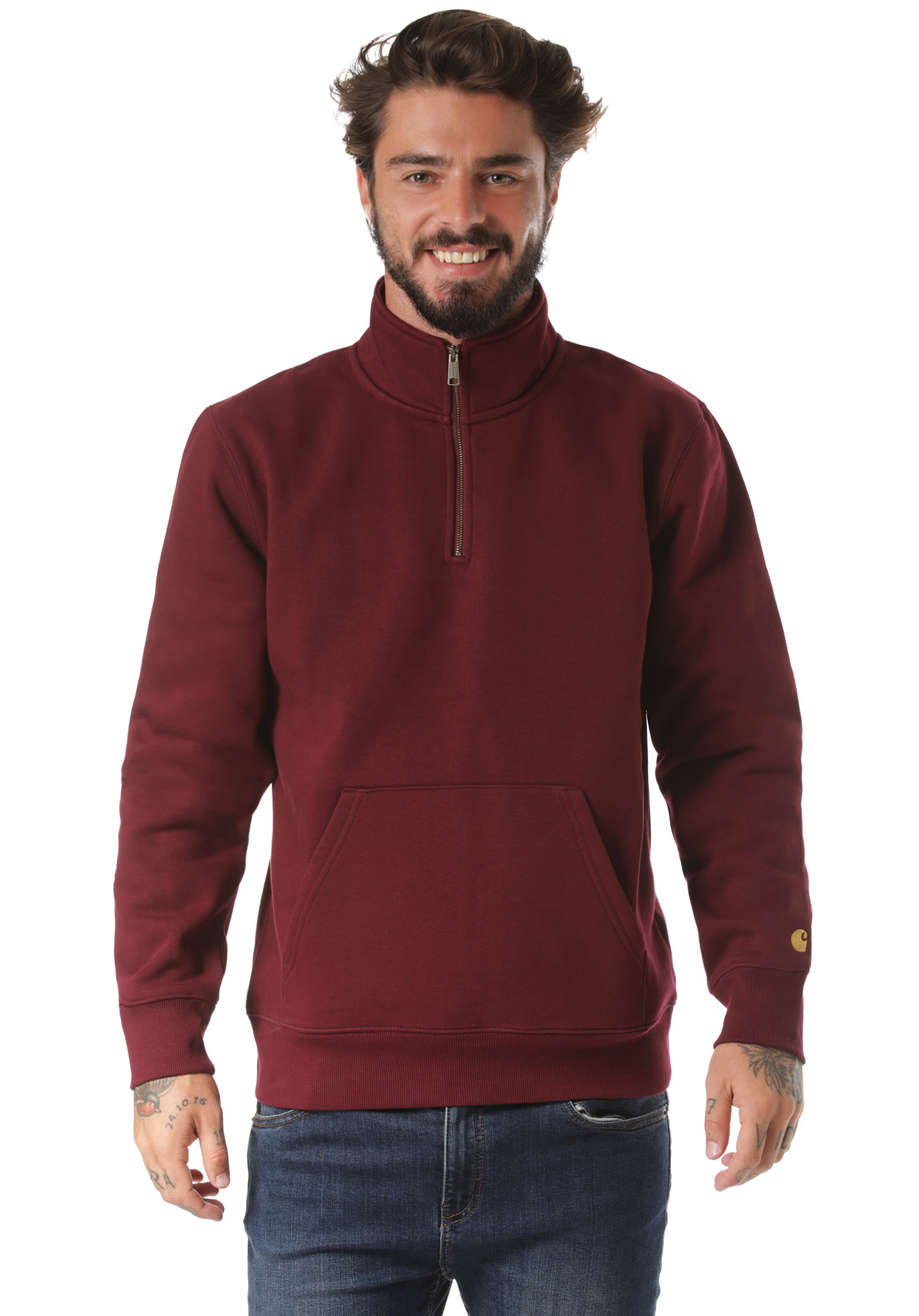 1d01d28e carhartt WIP Chase Neck Zip - Sweatshirt for Men - Red - Planet Sports