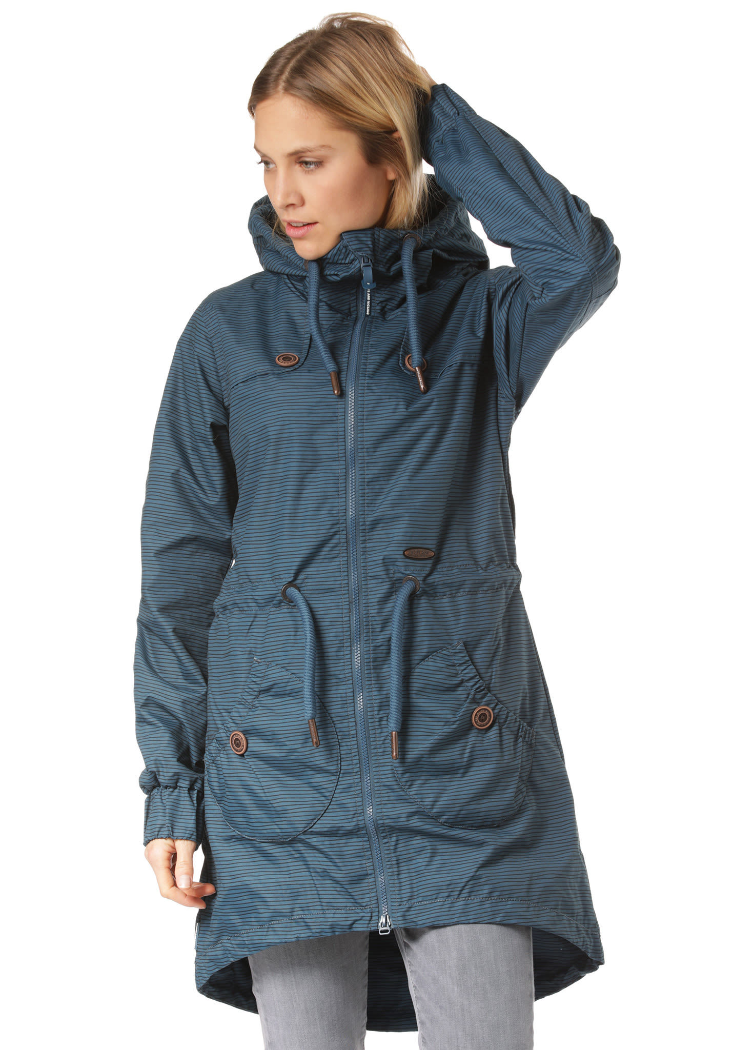 376192aa0231d ALIFE AND KICKIN Charlotte As - Coat for Women - Blue - Planet Sports