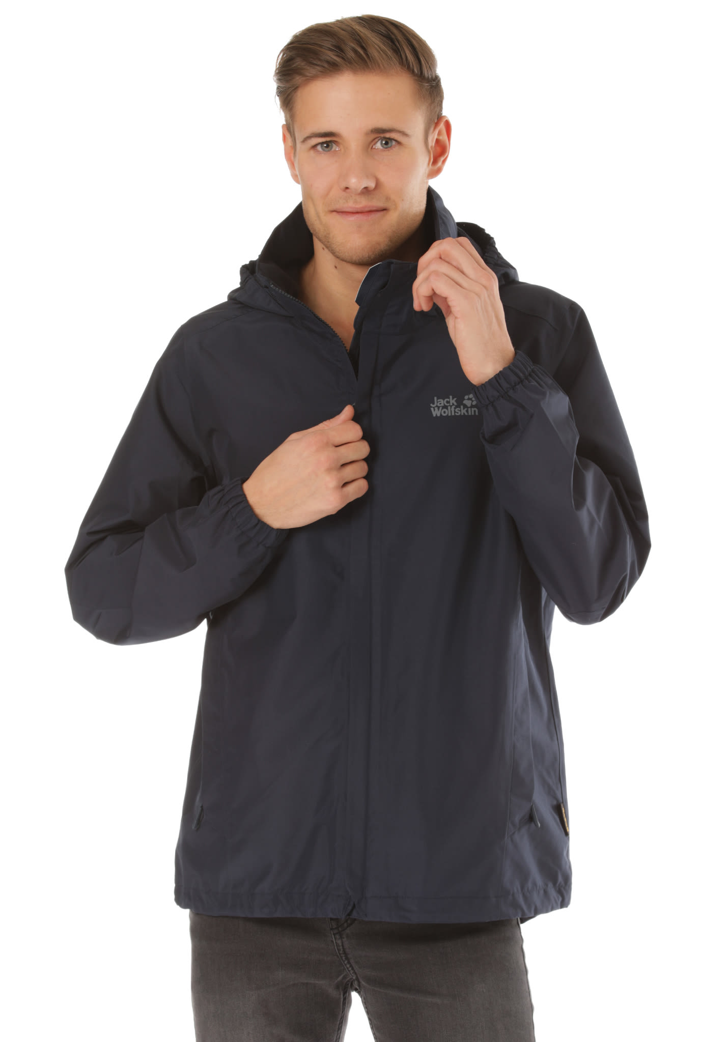 info for f27ac 46615 Jack Wolfskin Stormy Point - Outdoor Jacket for Men - Blue