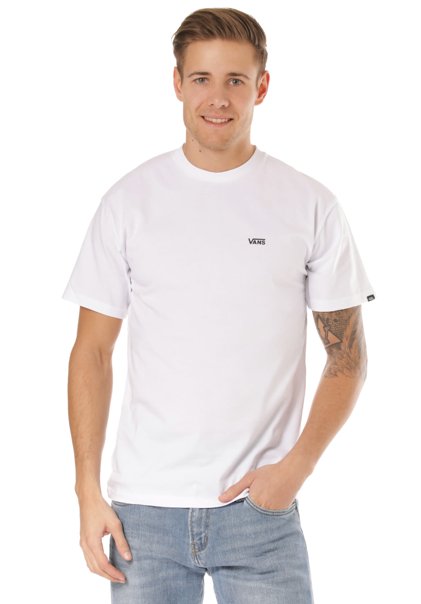 57eb71cd0f21d1 Vans Left Chest Logo - T-Shirt for Men - White - Planet Sports