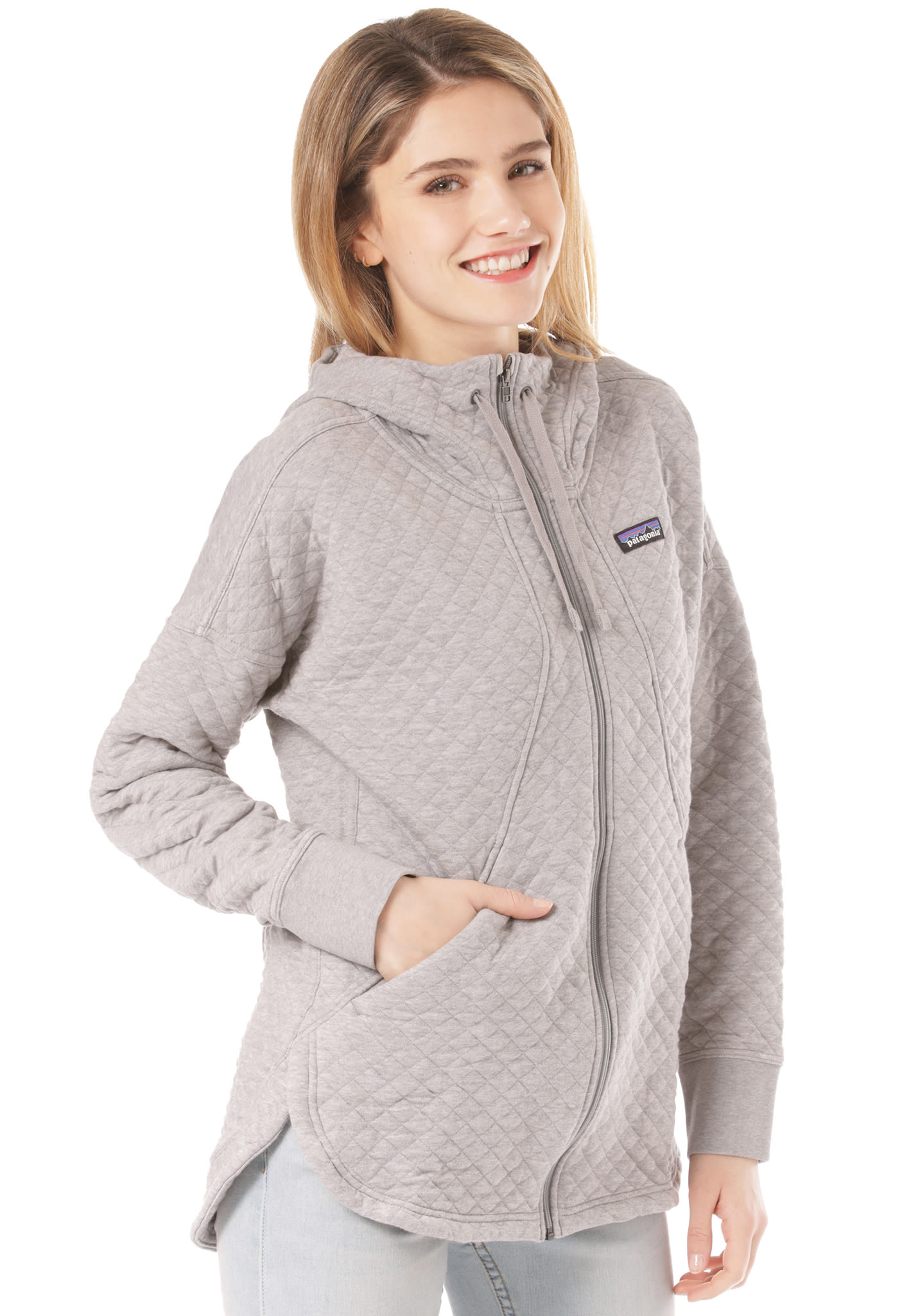 8a7a61eac9261 PATAGONIA Organic Cotton Quilt - Hooded Jacket for Women - Grey