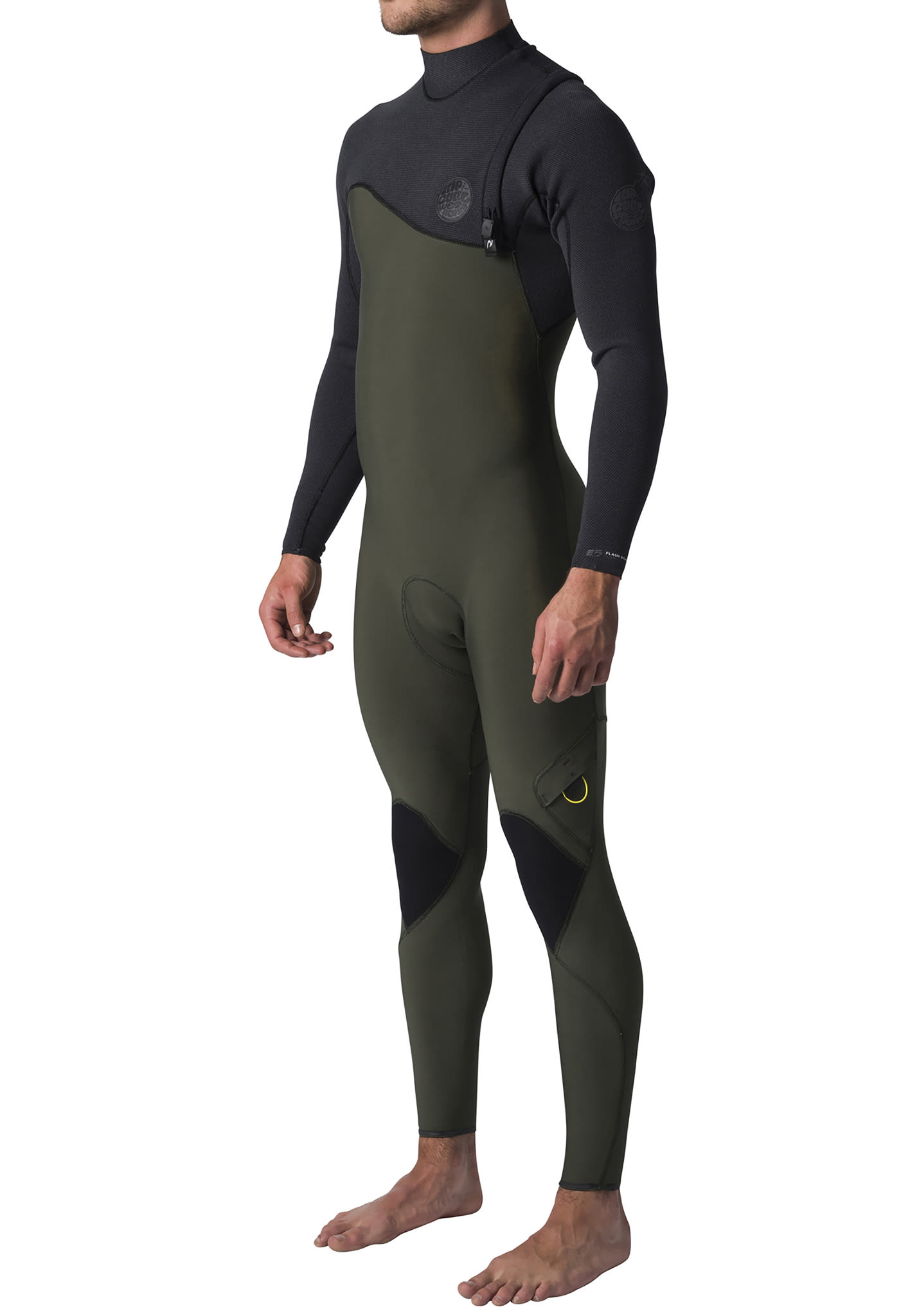 7bdb2790a4d6 Rip Curl Flashbomb 3/2mm Zip Free - Wetsuit for Men - Green - Planet Sports