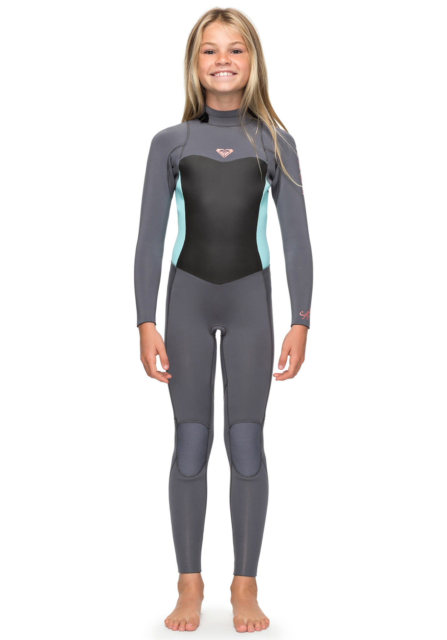 the best attitude 549e9 a730b Roxy Syncro 3/2mm Back Zip - Wetsuit for Kids Girls - Grey