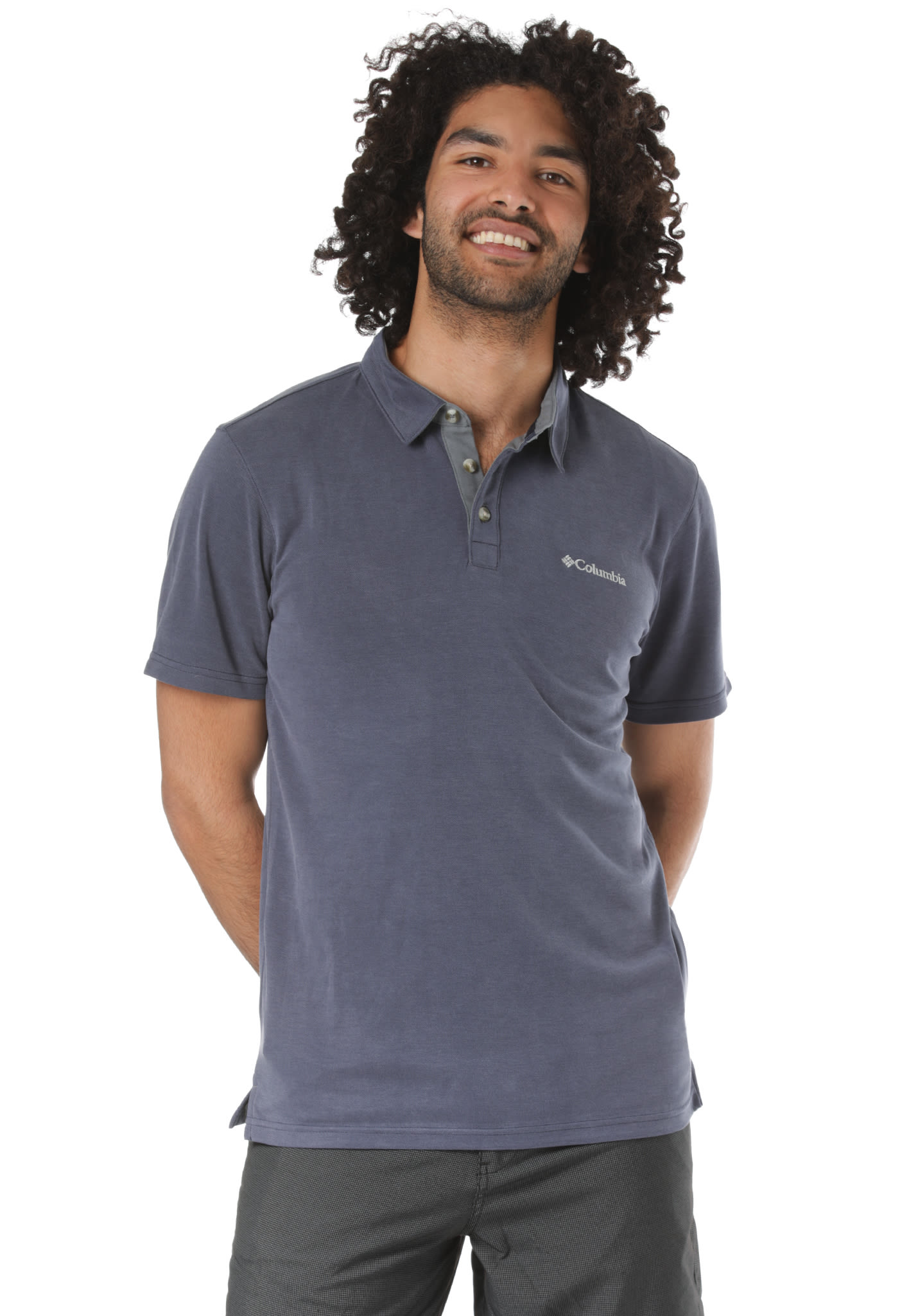 4012a46f651 Columbia Nelson Point - Polo Shirt for Men - Blue - Planet Sports