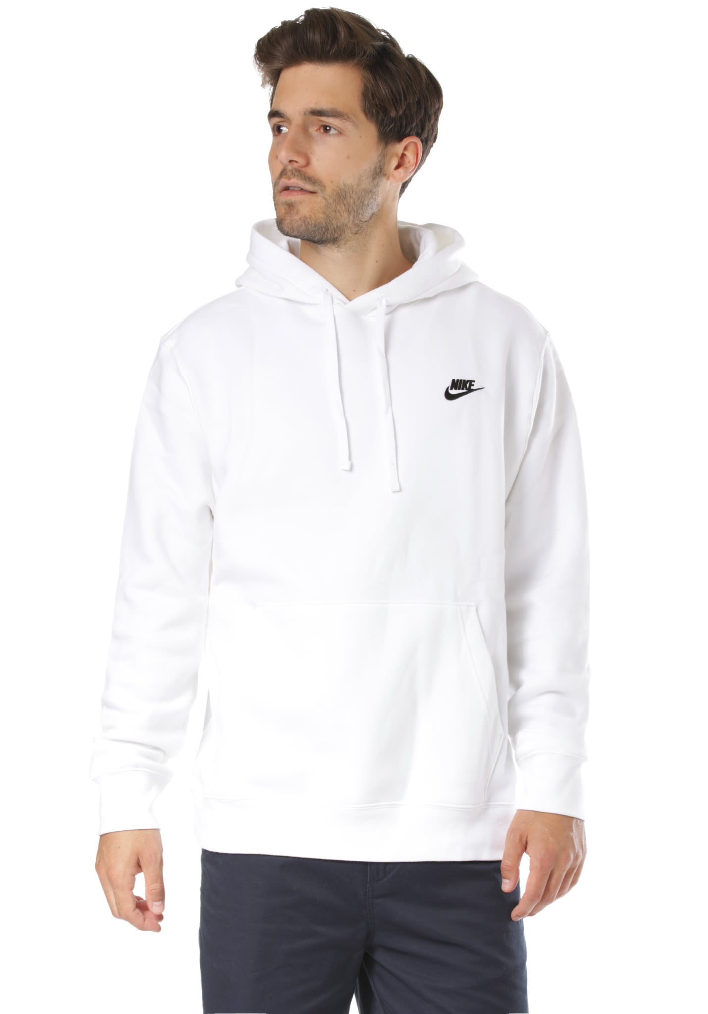 NIKE SPORTSWEAR Club , Hooded Sweatshirt for Men , White