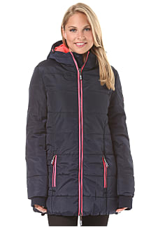 Damen winterjacke royalblau