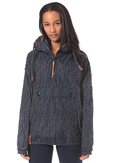 NAKETANO Freedom Got A Shotgun Funktionsjacke für Damen Blau