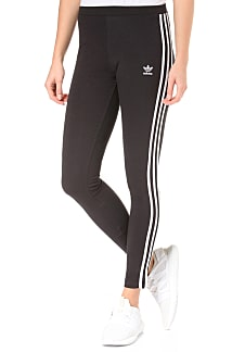 adidas Originals 3 Stripes Tight Leggings für Damen Schwarz