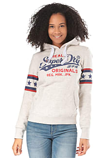 SUPERDRY Real Originals Airtex Entry Hood - Kapuzenpullover für Damen - Grau 087e8932dd