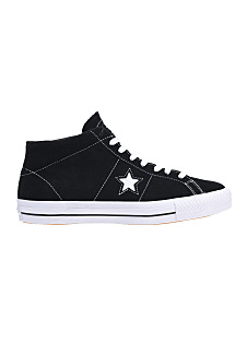 Converse One Star Pro Suede Mid - Sneakers - Black 662f1f7278