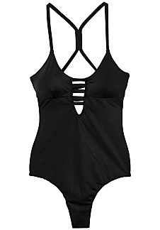 rvca solid one piece swimsuit for women black planet sports