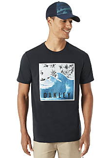OAKLEY SWC-Palm Waves - T-shirt voor Heren - Zwart