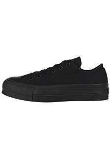 Converse Chuck Taylor All Star Clean Lift Ox - Sneaker per Donna - Nero 9f2c75a44b1
