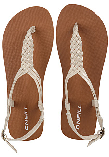 b01a4cf03 O Neill Braided Ditsy Plus - Sandals for Women - White