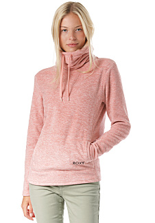 7a901ad367d03 Roxy Snow Flakes Vibes - Pull polaire pour Femme - Rose