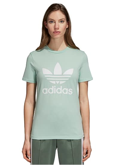 Damen Planet Adidas Shirt Originals Für Grün Trefoil T Sports wvSwCT