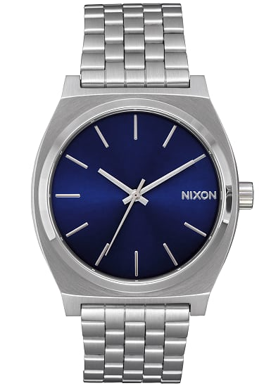 nixon time teller uhr f r herren silber planet sports. Black Bedroom Furniture Sets. Home Design Ideas