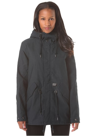 carhartt wip x 39 clash parka jacke f r damen blau planet sports. Black Bedroom Furniture Sets. Home Design Ideas