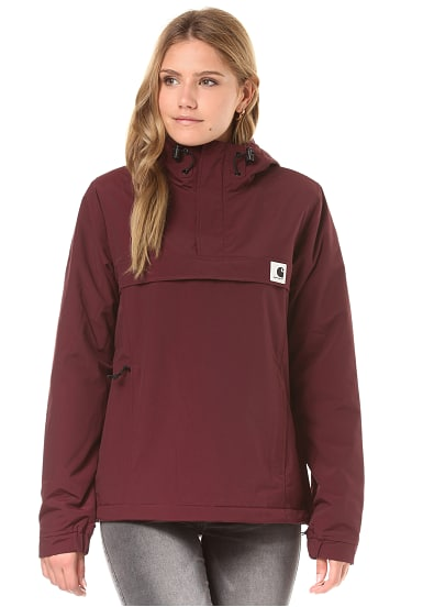 carhartt wip nimbus jacke f r damen rot planet sports. Black Bedroom Furniture Sets. Home Design Ideas