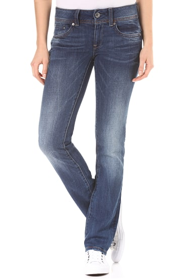 G STAR RAW Midge Saddle Mid Straight Jeans für Damen Blau