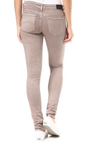 Replay Luz Coin Zip Jeans für Damen Braun