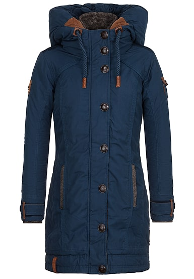 Damen winterjacke in blau