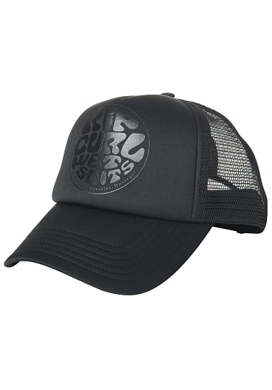 rip curl wetty logo trucker cap f r damen schwarz. Black Bedroom Furniture Sets. Home Design Ideas