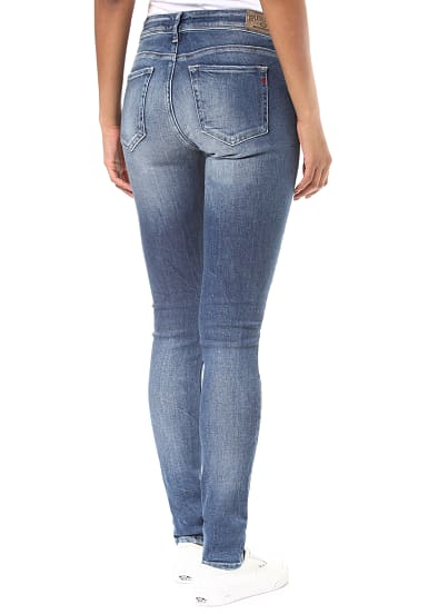 Replay Luz Coin Zip Jeans für Damen Blau