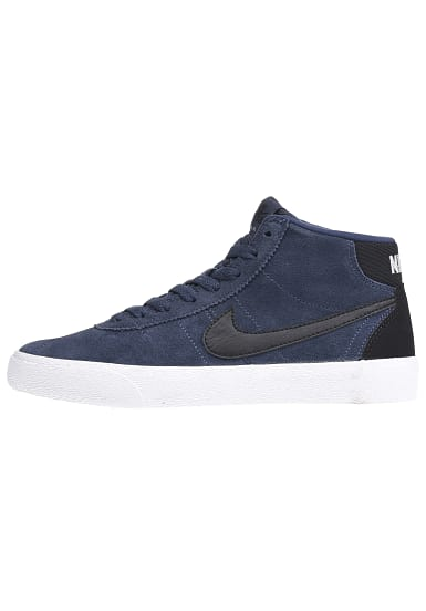 nike sb bruin hi sneaker f r damen blau planet sports. Black Bedroom Furniture Sets. Home Design Ideas