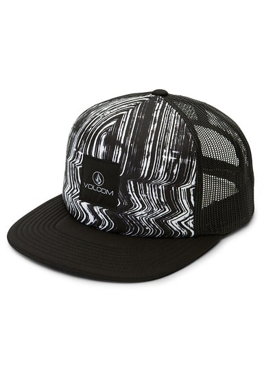 volcom don 39 t even trip trucker cap f r damen schwarz. Black Bedroom Furniture Sets. Home Design Ideas