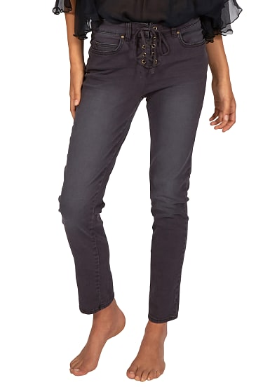 billabong side by side jeans f r damen schwarz. Black Bedroom Furniture Sets. Home Design Ideas