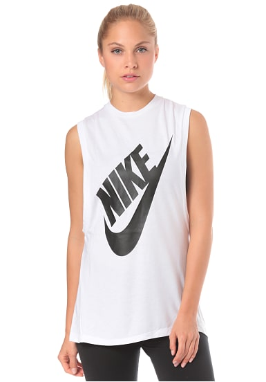 NIKE SPORTSWEAR Essential Hbr Seasonal Top für Damen Weiß