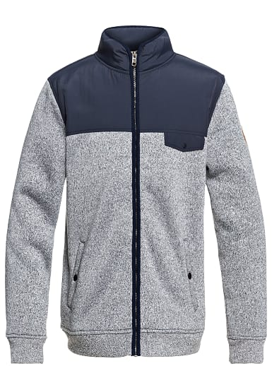 quiksilver kellermix sweatjacke f r herren grau. Black Bedroom Furniture Sets. Home Design Ideas