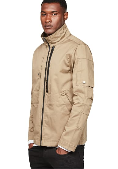 g star raw rackam utility pm jacke f r herren beige. Black Bedroom Furniture Sets. Home Design Ideas