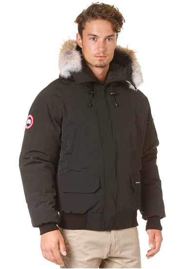 canada goose chilliwack bomber outdoor jas voor heren zwart planet sports. Black Bedroom Furniture Sets. Home Design Ideas